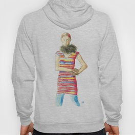 Striped Dress Hoody