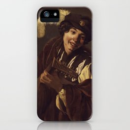 "Hendrick Terbrugghen ""A Boy Playing the Lute"" iPhone Case"