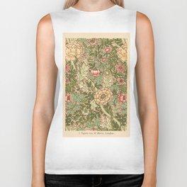 Antique Flower Wallpaper (Tapete) Design Biker Tank