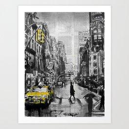 Brooklyn Cab Art Print