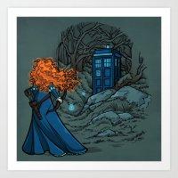 hallion Art Prints featuring Follow Your fate by Karen Hallion Illustrations