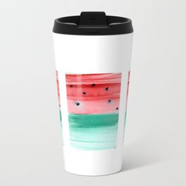 Watermelon painting Metal Travel Mug