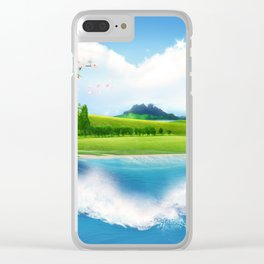 the green island Clear iPhone Case
