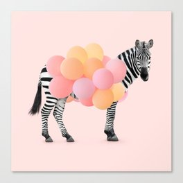 PARTY ZEBRA Canvas Print