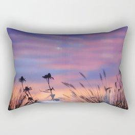 LOOK OUTSIDE - Flowers & Sunset #1 #art #society6 Rectangular Pillow