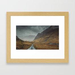When the sky fall Framed Art Print