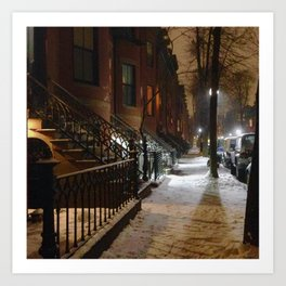 Winter Light in the South End Art Print