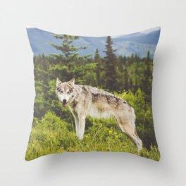 Wolfdog Throw Pillow