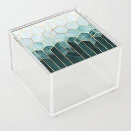 Teal Hexagons Acrylic Box