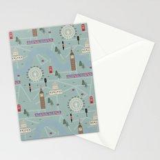 London Map Print Illustration Stationery Cards