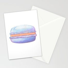 Macaron Watercolor Stationery Cards