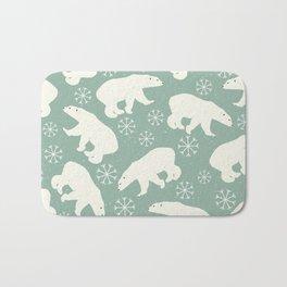 Polar Bears and Snowflakes Bath Mat