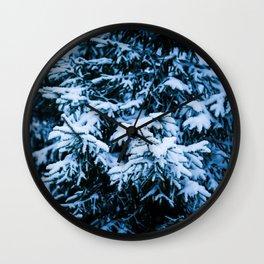 Snowfall Winter Christmas Tree Wall Clock