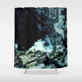 Shoved: Victoria - The Dweller in the Dark Shower Curtain