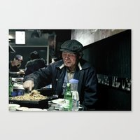 korean Canvas Prints featuring Old Korean by The Graphic Artist