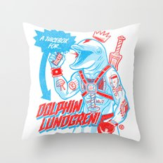 A Juicebox for Dolphin Lundgren Throw Pillow