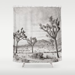 Joshua Tree Grey By CREYES Shower Curtain