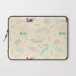 Doodlethrob (Tegan and Sara) creme Laptop Sleeve