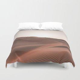 Sunset over the dunes Duvet Cover