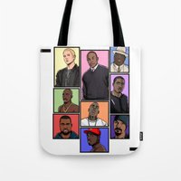 hiphop Tote Bags featuring HipHop Legends by Akyanyme