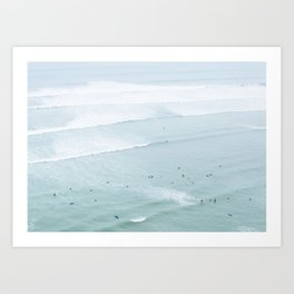 Tiny Surfers from the Sky 5, Lima, Peru Art Print