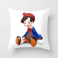 gucci Throw Pillows featuring Pinocchio x Gucci by Olivia Au
