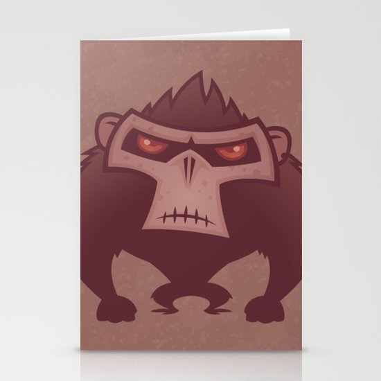 Angry Ape Stationery Cards