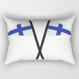 Finland flag Rectangular Pillow