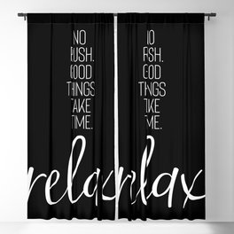 RELAX   black Blackout Curtain