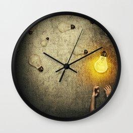 light bulbs juggling Wall Clock
