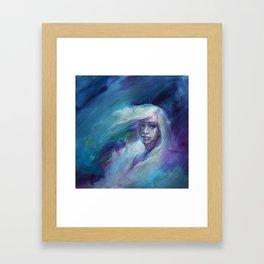 Selene in Moonlight Framed Art Print