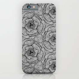Continuous Flower Lines iPhone Case