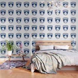 Police Dog Shield Mascot Wallpaper