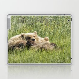 Counting Salmon - Bear Cubs, No. 3 Laptop & iPad Skin