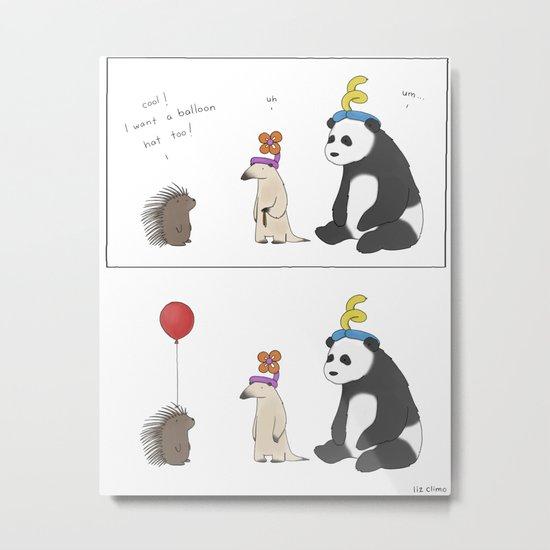 Everybody Deserves a Balloon Hat  Metal Print