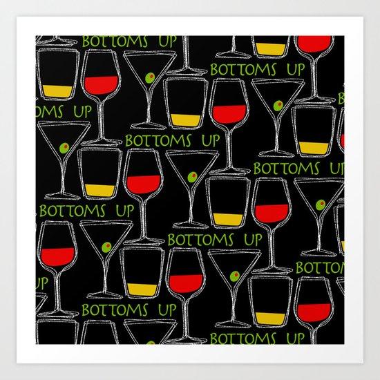 Bottoms Up Art Print