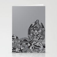 transformers Stationery Cards featuring Transformers: Megatron by Skullmuffins