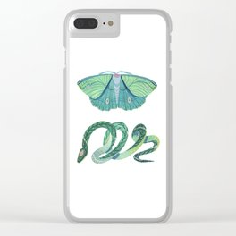 Moth and Snake Clear iPhone Case