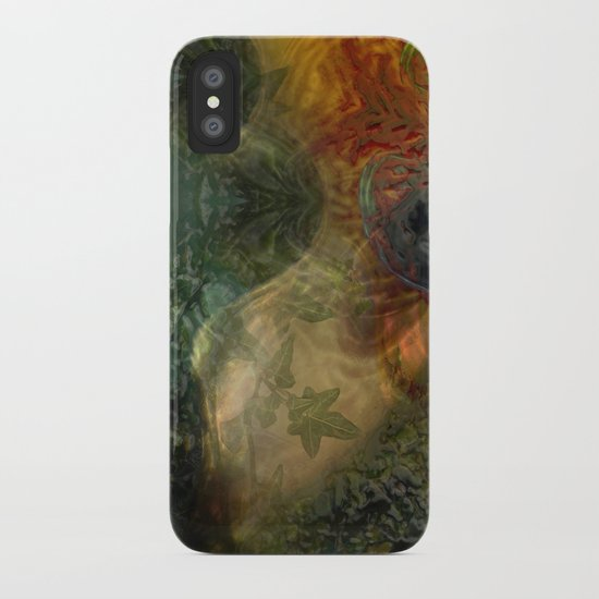 """""""The Inner Forest (caramel pattern)"""" iPhone Case"""
