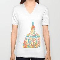 atlanta V-neck T-shirts featuring Atlanta, GA by ahutchabove