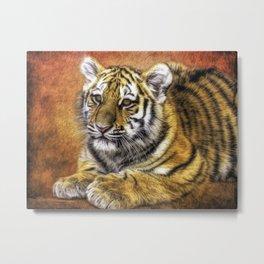 Young Tiger Metal Print