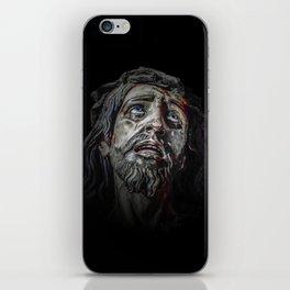 Jesuschrist Face Dark Poster iPhone Skin