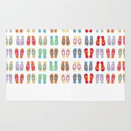 Summer Flip Flops Pattern Rug