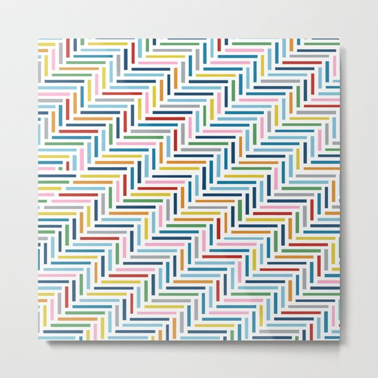 Herringbone Color Metal Print
