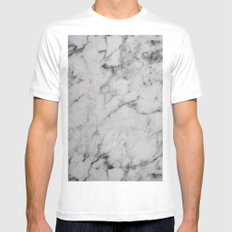 Marble White MEDIUM Mens Fitted Tee