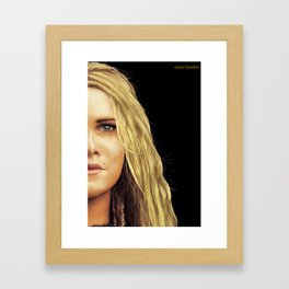 Clarke Griffin portrait Framed Art Print