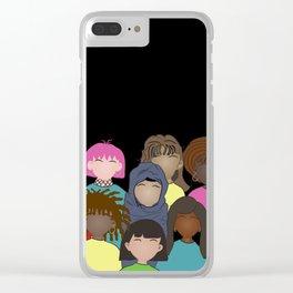 Women portrait Clear iPhone Case