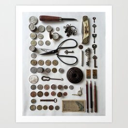 Flatlay Poster 01 - Knolling Photography - By Brandon Mikel Paul Art Print