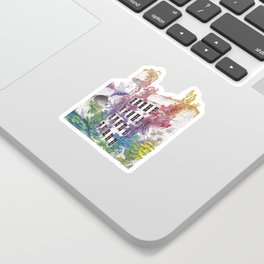Water - Rainbow City - Watercolor Painting Sticker