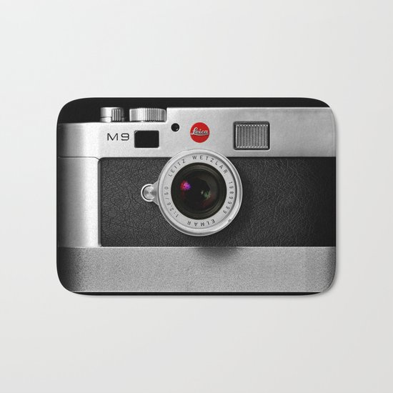 classic retro Black silver Leather vintage camera iPhone 4 4s 5 5c, ipod, ipad case Bath Mat